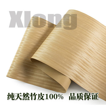 L:2.5Meters Width:55cm  Thickness:0.25mm Wide Natural Gold Silk Teak Veneer Furniture Handmade Solid Wood