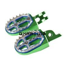 CNC בילט MX רגל יתדות נשענת דוושות Footpegs לקוואסאקי KX F 250 450 KXF250 2006 2018 KXF450 2007 2018 KX250 KX450 2019 2020