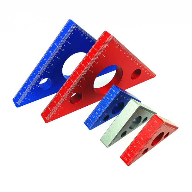 Messwerkzeug Holzbearbeitungslinien-Zentrierfinder POHOVE 45/°-Winkelmarker Mittelfinder Linienzeichnungslineal Aluminiumlegierung Zentrierlinien-Zeichner