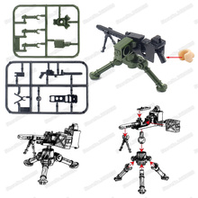 Legoinglys M2 Air Guns Military Assemble Building Blocks Figures Weapons ww2 Army Soldier Equipment Moc Child Christmas Gift Toy