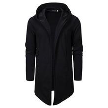 גברים Assassins Creed כהה סדרת סדיר סלעית קרדיגן Sweatercoat ארוך גברים מקרית נים מעיל