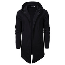 男性アサシンクリードダークシリーズ不規則なフード付きカーディガンsweatercoatロング男性カジュアルパーカーコート