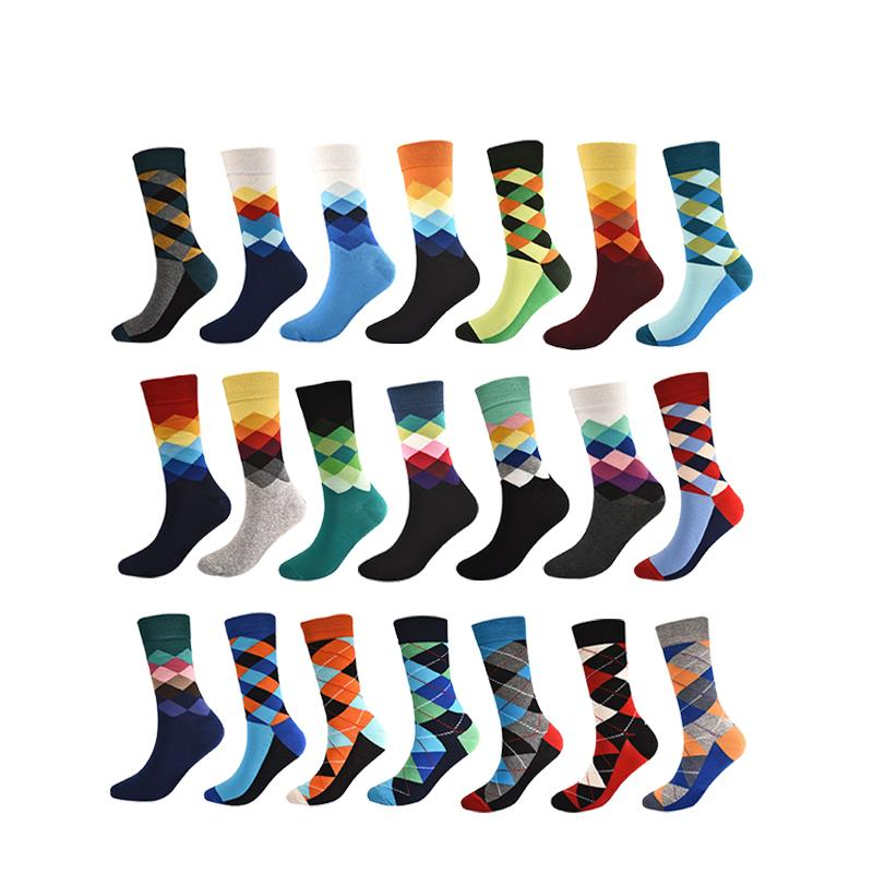 1 Pair New Men'S Socks Cotton Colorful Soft Winter Autumn Socks For Men Comfortable Socks