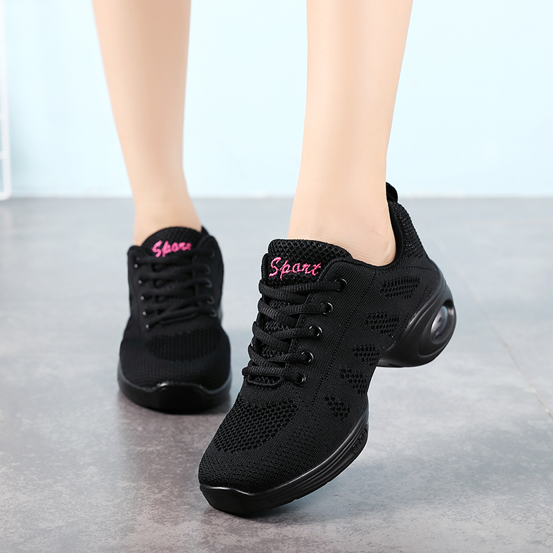 Mesh Jazz Modern Dance Shoes Women Soft Sole Breath Dance Shoes Air Walking Sneakers Running Shoes Woman Basket Zapatos Mujer