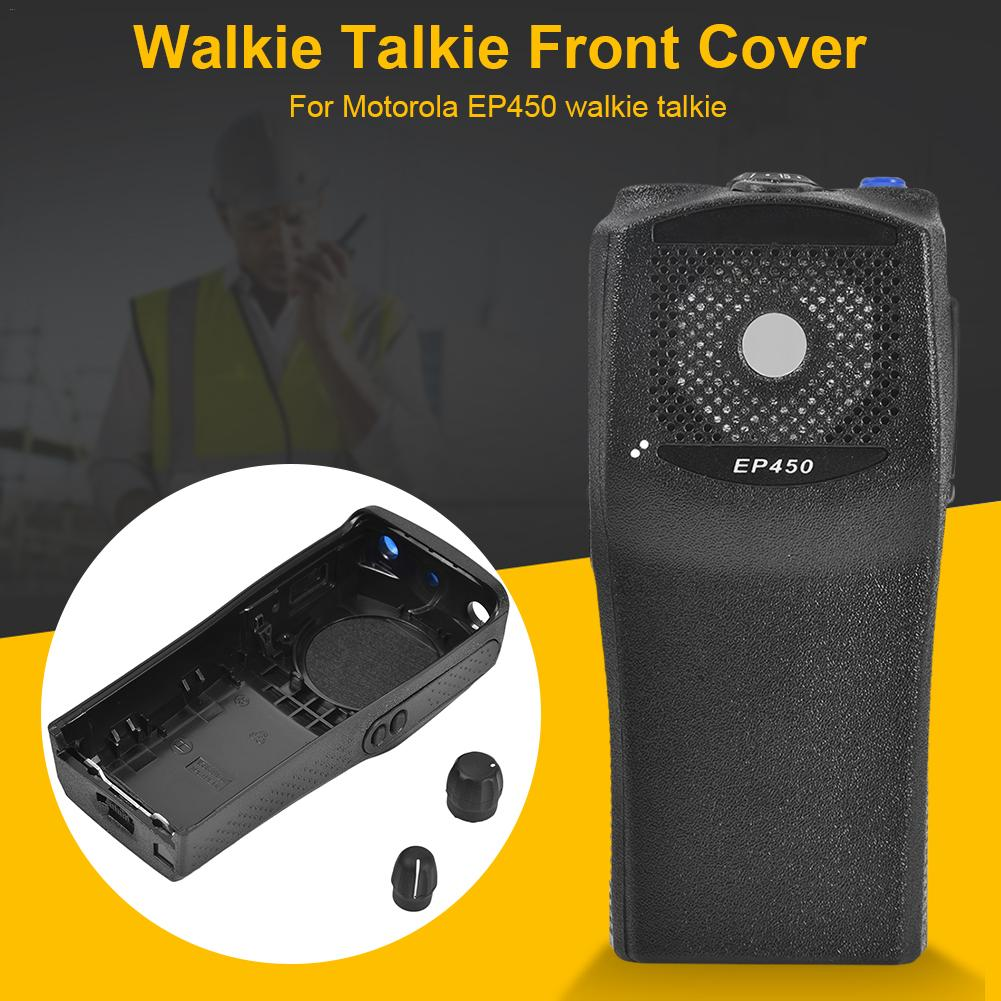 Replacement Front Casing With The Knobs Repair Housing Cover Shell For Motorola EP450 Walkie Talkie Two Way Radio