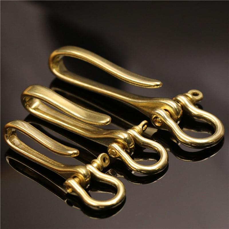 Ремень U-образный крючок латунный брелок-зажим ретро винтажный брелок-кошелек цепной крючок с бантом Скоба рыболовный крючок доступны 3 раз...