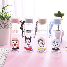 Creative personality glass cute cup High borosilicate material  water bottle