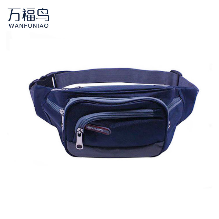 Waterproof Oxford Cloth Sports Waist Pack Men And Women Multi-functional Partition Cash Storage Bag Running Mobile Phone Bag