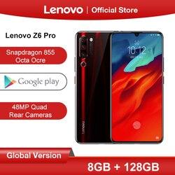 Оригинальная глобальная версия lenovo Z6 Pro Snapdragon 855 Восьмиядерный 6,39 FHD дисплей смартфон задняя 48мп четырехъядерный камера