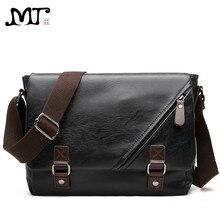 MJ çanta bağbozumu PU deri erkek askılı çanta yüksek kaliteli deri Crossbody Flap çanta çok yönlü omuz çantası