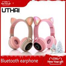 UTHAI D35 TWS Portable / Wireless Bluetooth Headset 5.0 Stereo Foldable Headphones Audio Headphones with Music Microphone