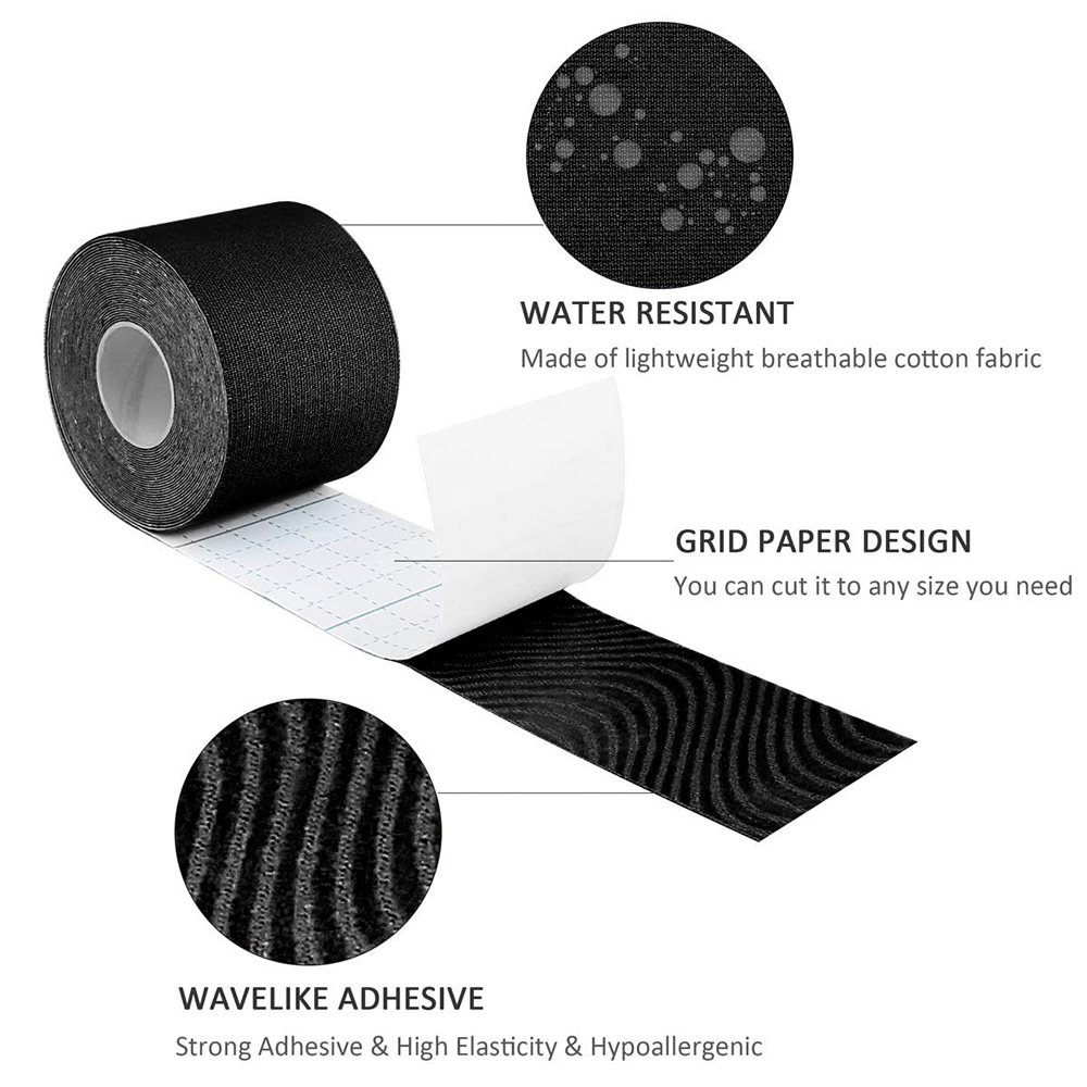 6 Rolls Waterproof Cotton Elastic Kinesiology Tape Adhesive Bandage Knee Elbow Protector Muscle Sports Taping Width 2 5 5cm in Elbow Knee Pads from Sports Entertainment