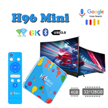 Media-Player Smart-Tv-Box Allwinner H6 Android 9.0 Newest 6K 4GB 128GB H.265 H96 mini android tv box support ip tv subscription vmade newest original v96mini android 9 0 os smart tv box allwinner h6 4gb 32gb h 265 hevc support youtube facebook media player