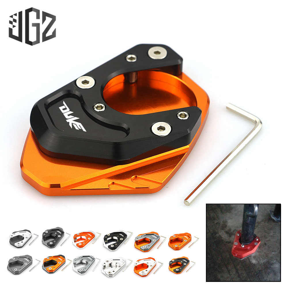 COPART Motorcycle Kickstand Extender Foot Side Stand Extension Pad Support Plate For For KTM Duke RC 390 250 125 200