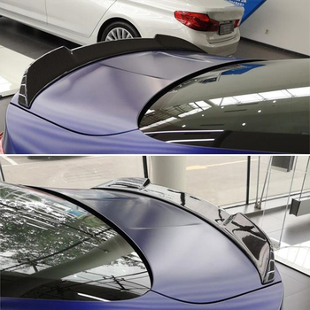Use For BMW 4 Series Coupe F33 M4 F83 Spoiler 2014--19 Year 2door Cabriolet Carbon Fiber Rear Wing CS Style Accessories Body Kit image