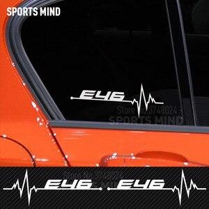 2 х Автомобильный Стайлинг для BMW E46 E39 E90 E60 E36 F30 F10 E30 E53 E34 E87 E70 E92 E91 E83 E38 внешние аксессуары для автомобиля Стикеры наклейка
