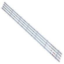 Yeni 4 adet/takım 7LED 805mm LED arka ışık şeridi Vestel 17DB43H P43d300 LB43007 17DLB43VLXR1 VES430UNDL 2D N12 VES430UNDA 2D N12