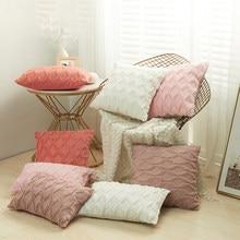 Capas de almofada decorativas fronha decoração para casa lance capa de almofada sala estar quarto sofá decoração natal quente macio pelúcia