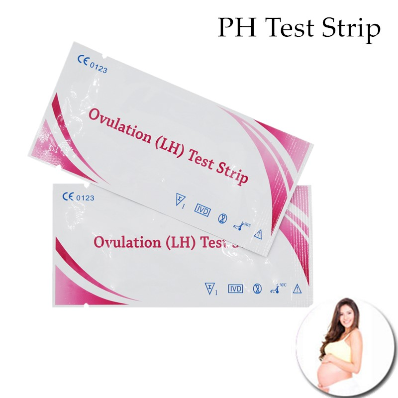 10pcs Household Pregnancy Test Paper LH Test PH Test Strip Indicator Water Saliva And Urine Testing Measuring Pregnancy 30%off