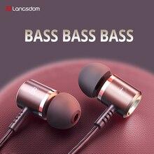Langsdom m400 com fio fones de ouvido jogos fone para smartphone no ouvido esporte fone com microfone ajuste do telefone móvel alta fidelidade fone ouvido