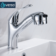 360 Degree Swivel Kitchen Faucet Adjustable Pull Out Sink Mixer Tap Bathroom Sink Faucet Brass Single Handle Water Saving Faucet kitchen faucet kitchen led tap sink mixer polished chrome brass double spouts 360 degree pull out