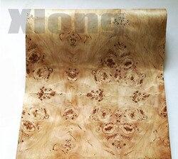 2,5 метров/шт. Ширина: 55 см Толщина: 0,3 мм натуральный Тополиный дерево шпон динамик тонкая кожа (с крафт-бумагой)