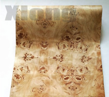 2.5Meter/pcs Width:55cm Thickness:0.3mm Natural Poplar Tree Wood Veneer Speaker Thin Skin((With Kraft Paper)
