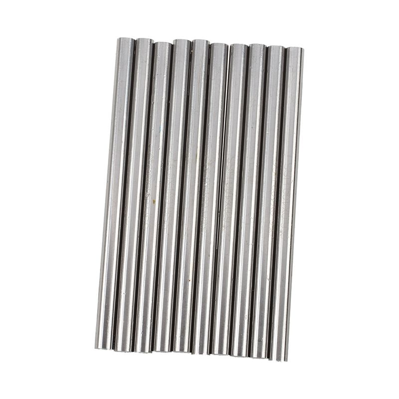 Silver Lathe Bar Round Rod High Speed Steel HSS 4mm Dia 100mm Length Pack of 10
