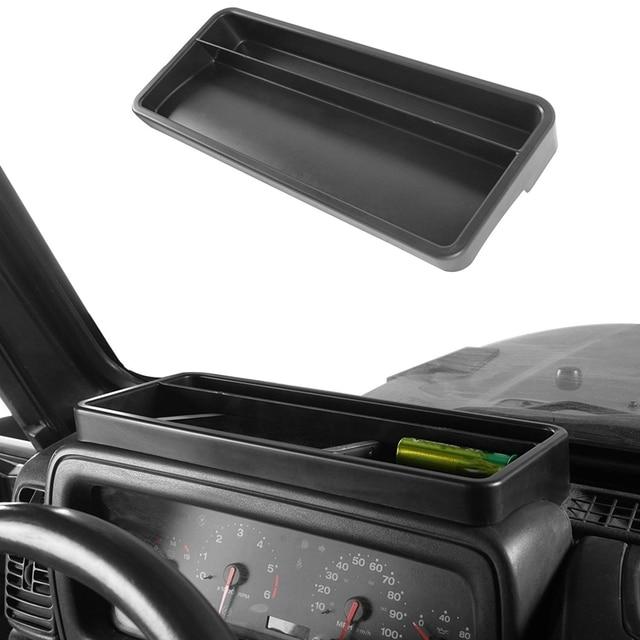 صندوق تخزين لوحة القيادة لسيارة جيب رانجلر TJ 1997 2006 داش حامل هاتف درج منظم