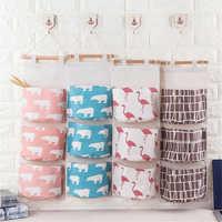 Wall Hanging Storage Bag Cloth Sundries Closet Door Organizer Toys Container Pocket Save Space Home Stuff Organiser Rangement