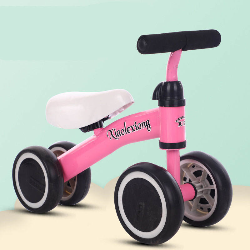 4 Wheels Baby Balance Bikes Baby Bicycle Children Walker Ride on Cars Toys for Birthday Gifts Outdoor Scooter Safety Stable(China)