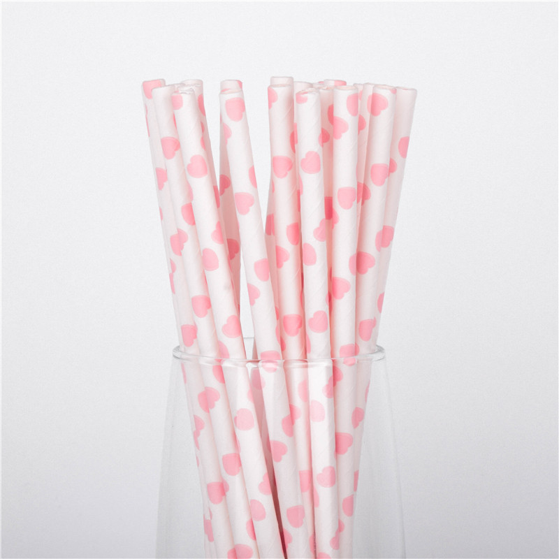 25PCS Party Supplies Drinking Plastic Straws Reusable For Baby Kids Birthday favors With cleaning brush
