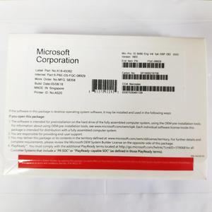 Microsoft Windows 10 Pro Operate System Product Key OEM COA License Include DVD 64-bit 1 Device English Russian Version