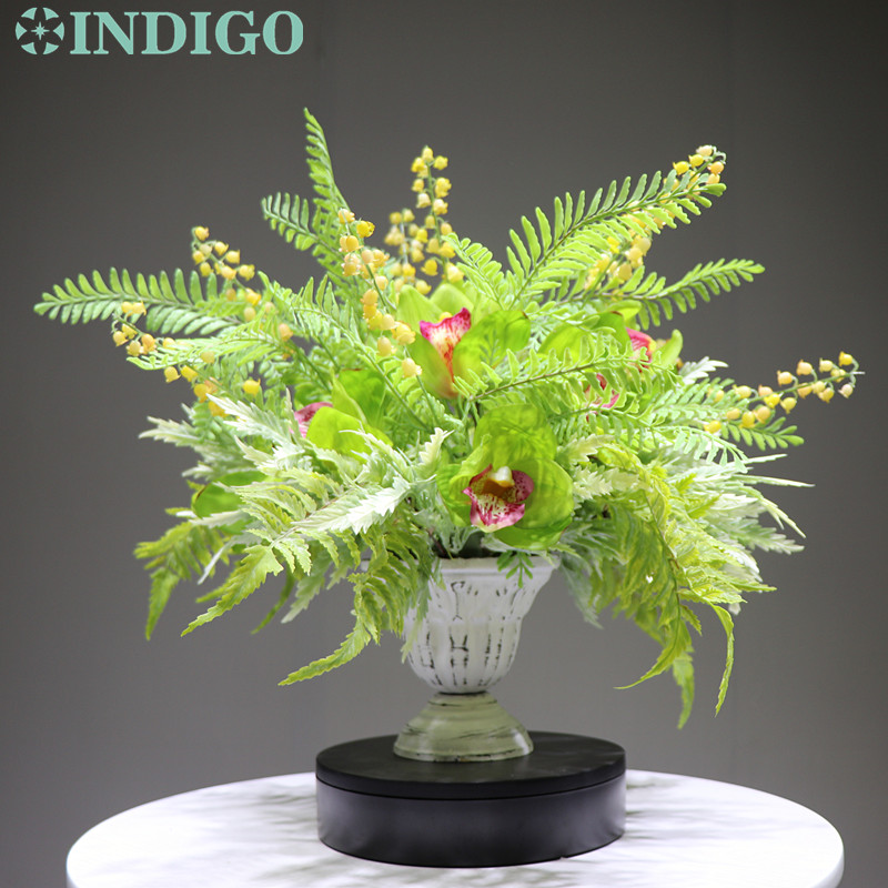 INDIGO conçu-1 ensemble bricolage Cymbidiu Convallaria cadeau fleur Arrangement bonsaï Bouquet événement Table pièce maîtresse livraison gratuite