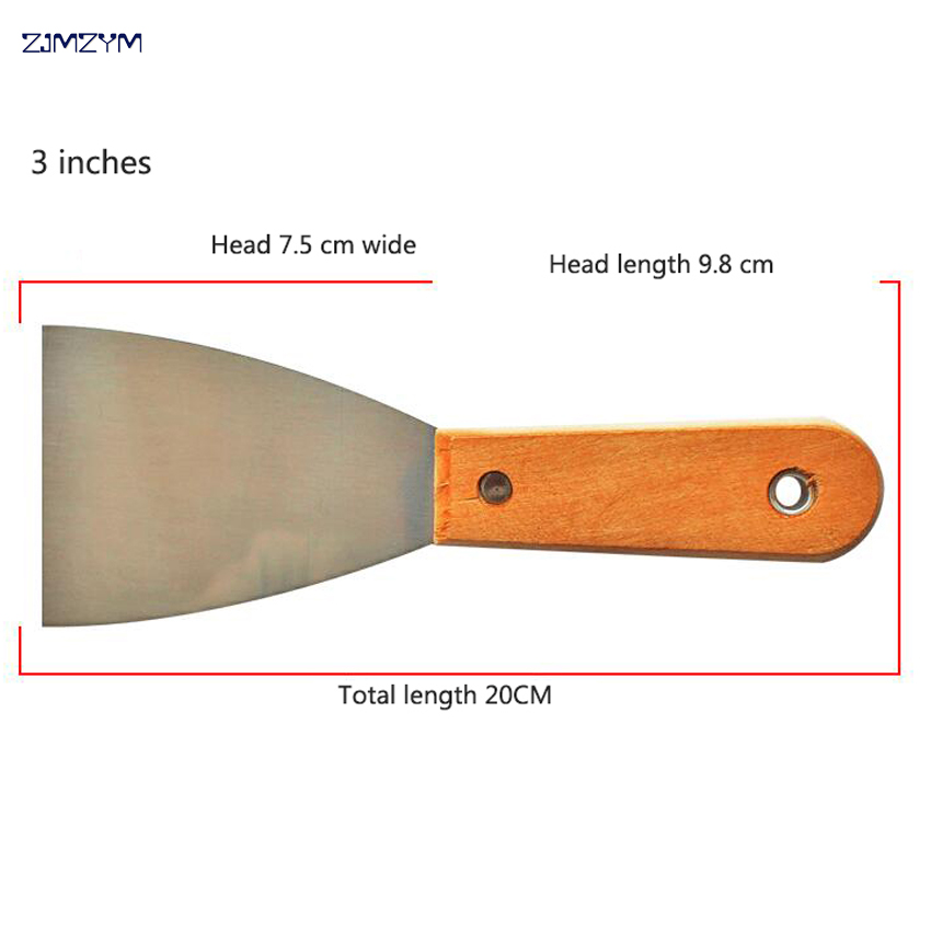 3 Inch 20cm Multi-function Manganese Steel Putty Knife Blade Antirust Batch Knife High-polished Wipe Scraper Tool