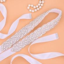 Стразы свадебное платье пояс Серебряная лента Свадебная со стразами алмаз свадебный пояс для женщин платья J116S