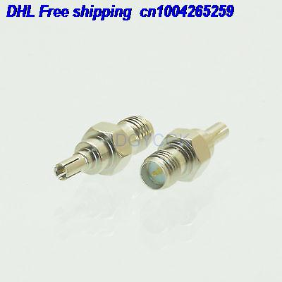 EMS/ DHL 100pcs Conversion Adapter CRC9 Male To RPSMA Female F For 3G USB Modemale Connector Nickel Connector  22ds