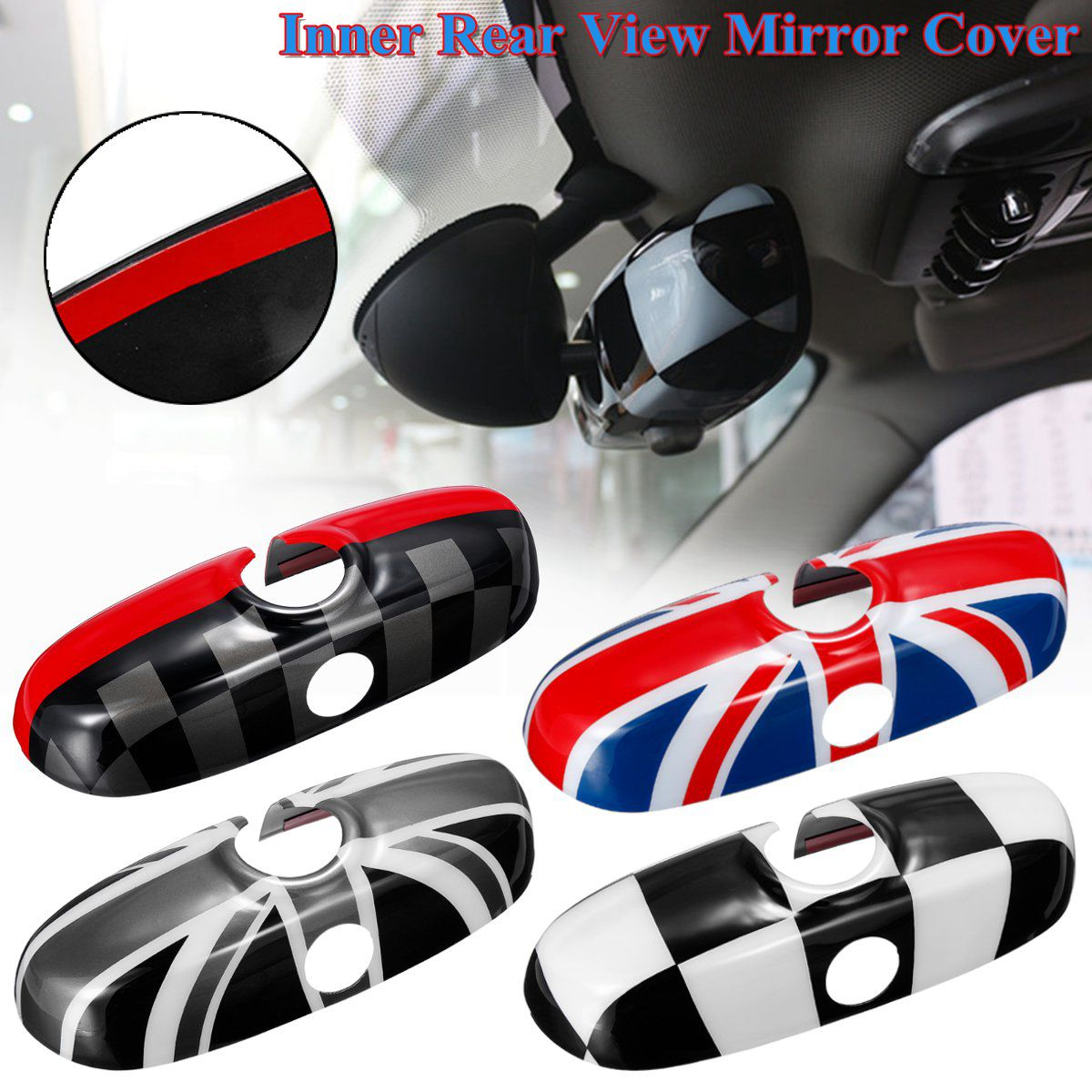 PC Car Rear View Mirror Case Cover UK Flag Sticker decoration for Bmw for BMW for MINI Cooper JCW S One  F54 F55 F56 F60