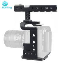 BGNing الألومنيوم فيديو كاميرا قفص جبل استقرار تزوير مع أعلى مقبض ل Z كاميرا E2 E2-S6 / F6 / F8 4K سينما كاميرا حامي