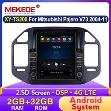 Tela de tesla android 9.7 polegada reprodutor multimídia do carro para mitsubishi pajero v73 v68 v75 1997-2011radio navegação estéreo 2din