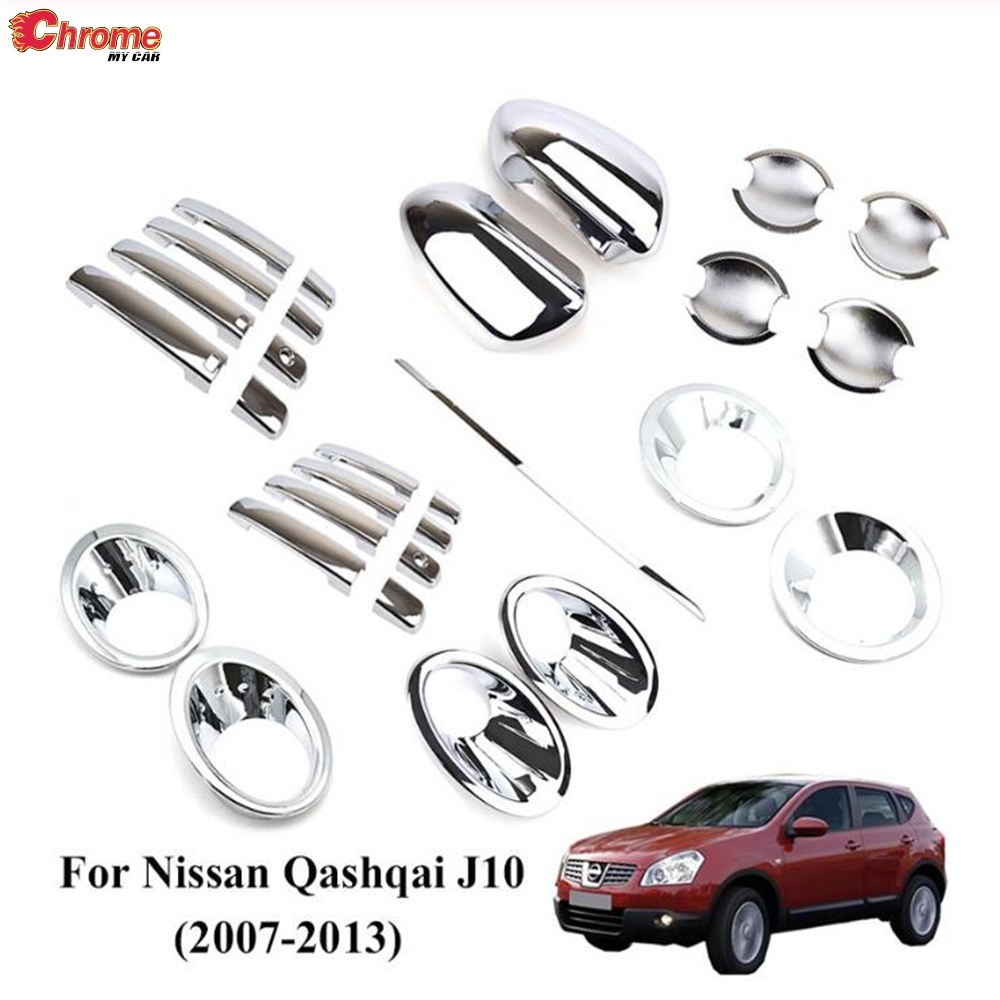For Nissan X-Trail 2008-2012 Chrome Side Rearview Mirror Wing Mirror Cover trim