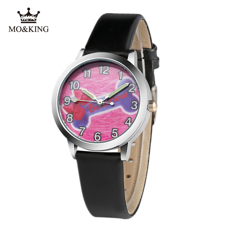 Fashion Cute Girl Little Princess Bow Cartoon Kid Watches Casual Sport Clock Leather Quartz Boys Watches Kids Relogio Infantil