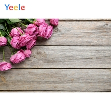 Photophone Wood Board Photocall Wedding Love Floral Backdrop Flower Newborn Baby Portrait Photography Background Photo Studio