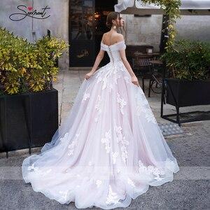 Image 3 - Baziingaaa vestido de boda de lujo, con aplique para hombro, de encaje, Sexy, sin espalda, para novia americana, a medida