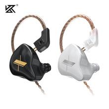 Kz edx fone de ouvido 1dd drivers híbrido de alta fidelidade graves fones de ouvido in-ear monitor cancelamento de ruído esporte