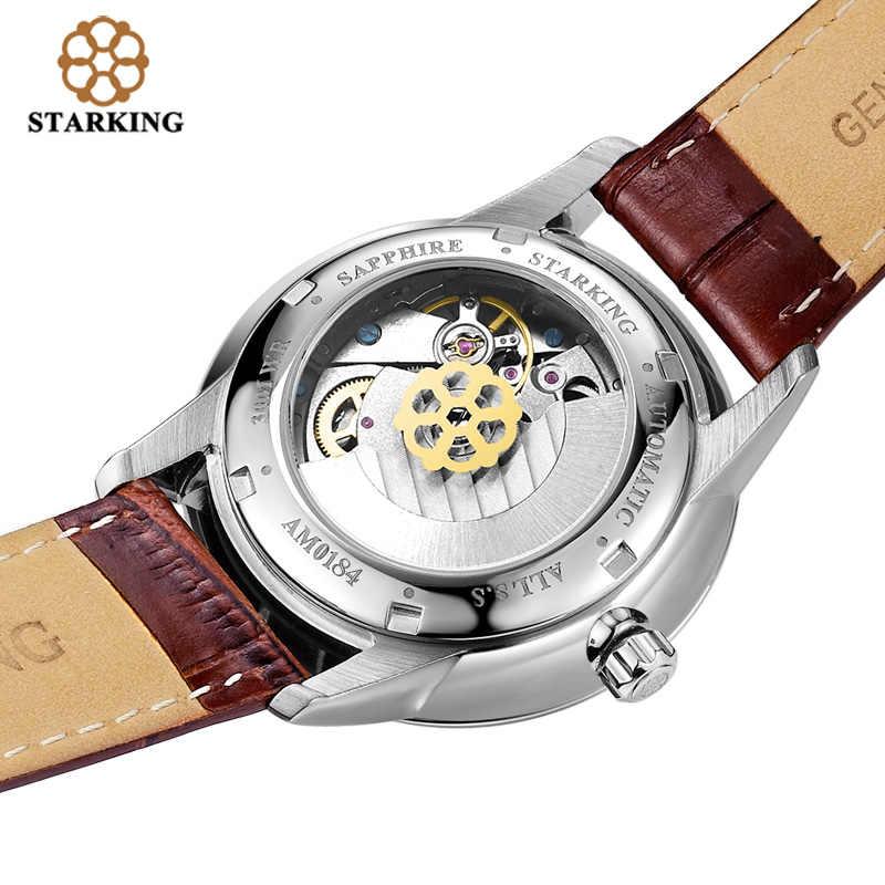 STARKING אוהבי רצועת עור אוטומטי נירוסטה שעונים עבור חובבי גברים נשים אופנה שמלת שעוני יד Hodinky פריז