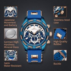 Image 5 - ¡Venta al por mayor! Reloj MEGALITH deportivo para hombre, correa de silicona impermeable, cronógrafo, relojes de pulsera de cuarzo, reloj Masculino con caja