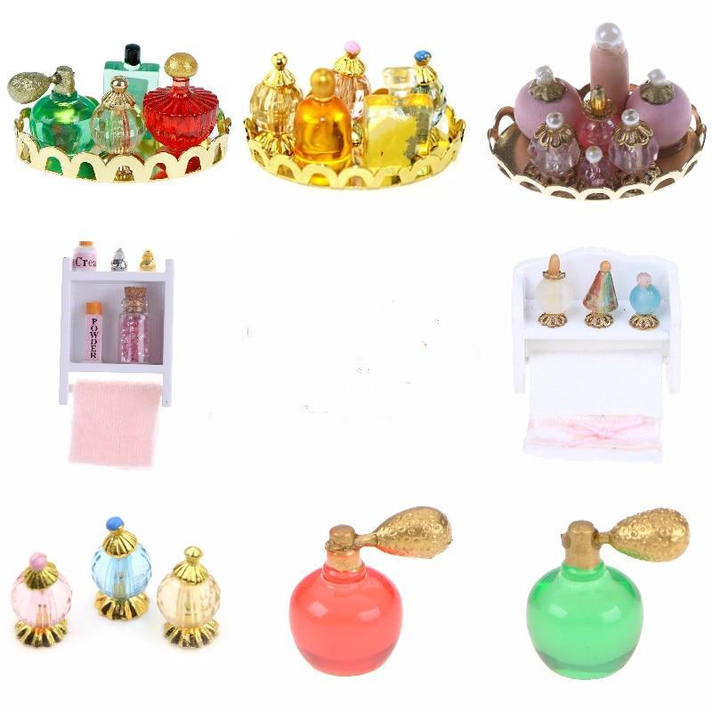 1/12 Scale Perfume Tray Miniature Furniture Model Mini Dollhouse Furniture Doll Bedroom Bath Dolls House