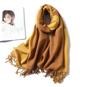 Image 5 - Casual Cashmere Scarf Women Winter Neck Warm Scarves Thick Shawls Wraps for Lady Solid Palid Pashmina Echarpe Femme 2020 New