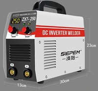 ZX7 250 200V household Electric Welding Machine Portable Digital Display Inverter Plastic welder Weld Equipment